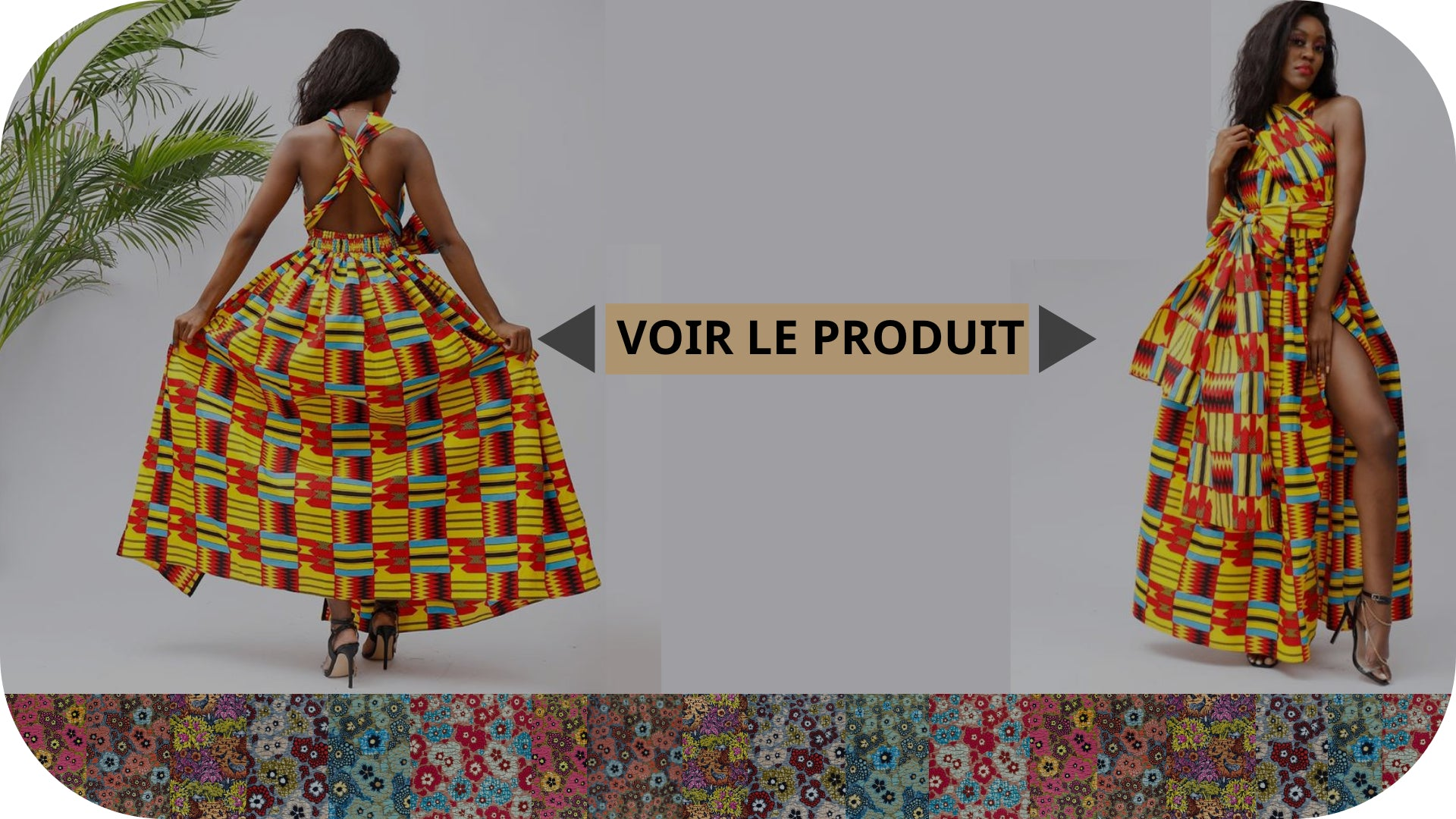 Robe Pagne Africain Dos Ouvert - Royaume d'Afrique