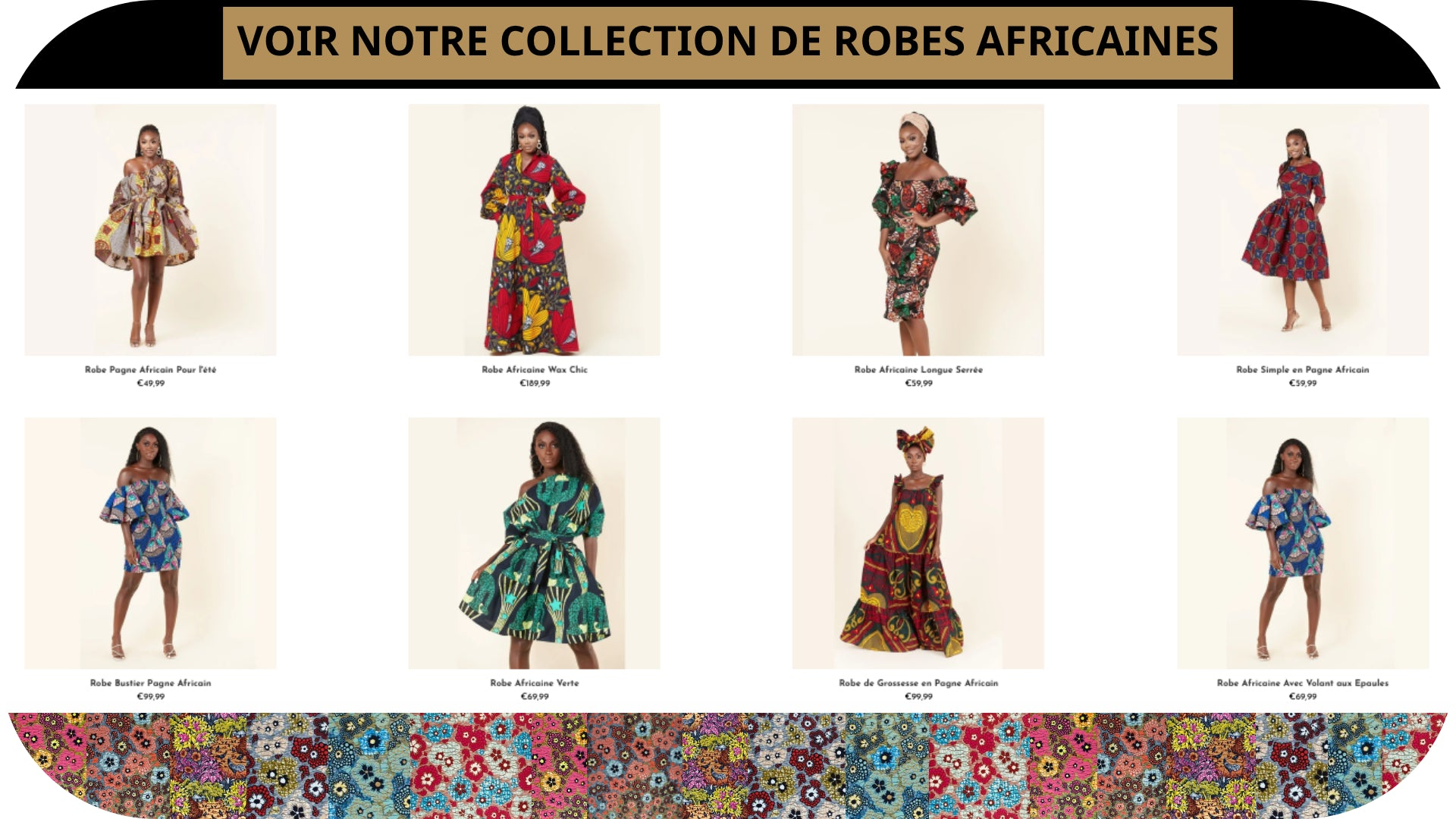 Collection robe africaine - Royaume d'Afrique