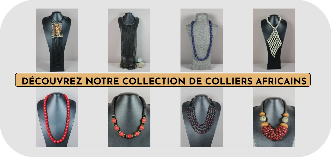collection de colliers africains