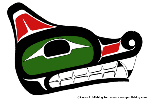 how to draw a wolf head northwest coast formline design style