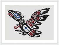 Cross Stitch Patterns Based on Pacific Northwest Coast Native Indian Art Styles: Book 1 Thunderbirds