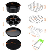 "12pcs Air Fryer Accessory Kit for 8"" Inch Airfryers"