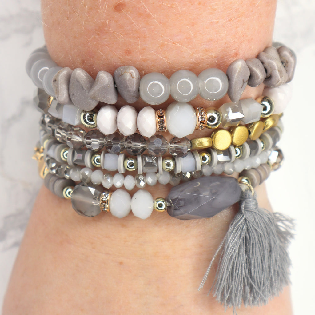 The Alena Bracelet - Light Grey
