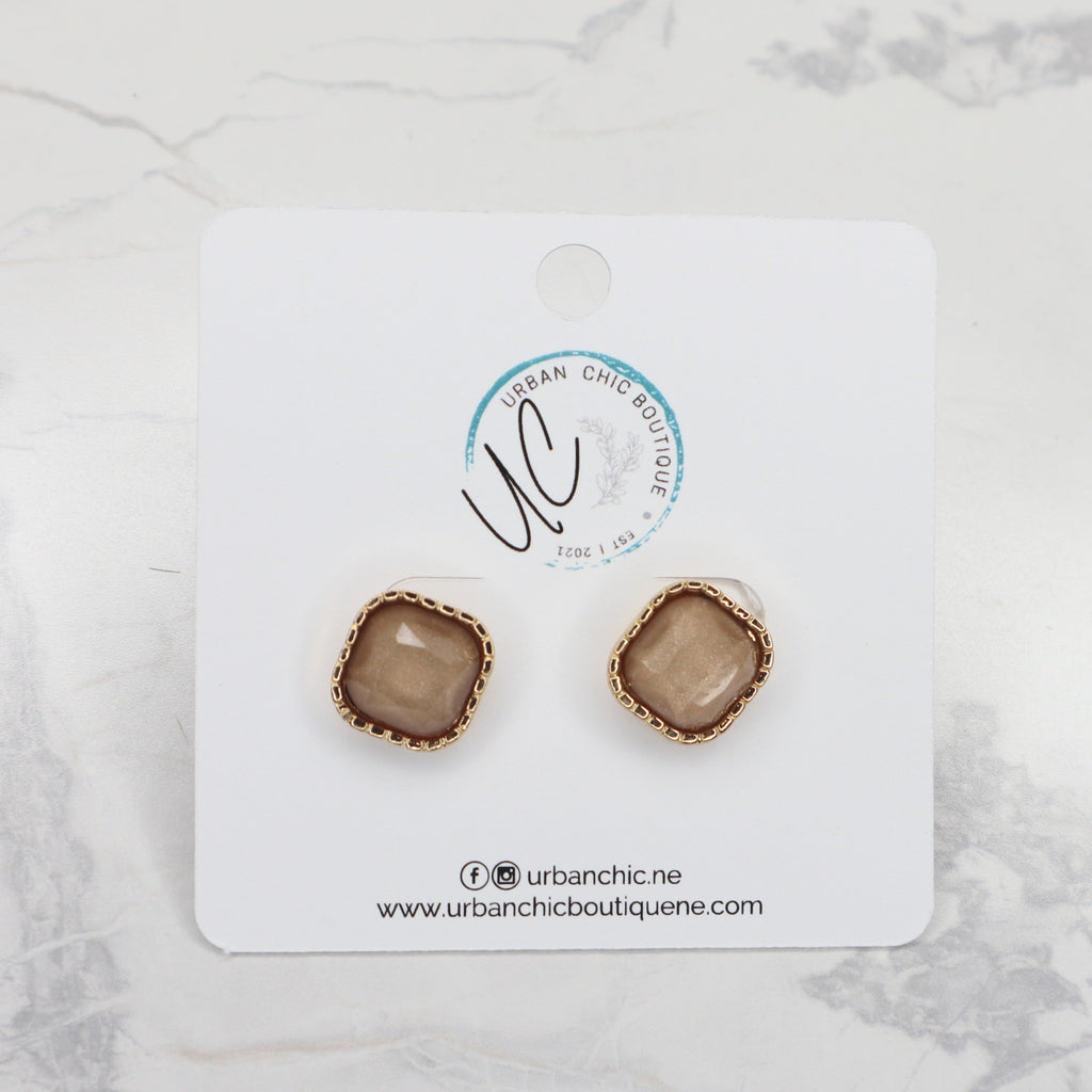 The Allegra Earrings - Brown