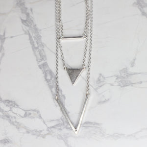 The Adel Necklace - Worn Silver