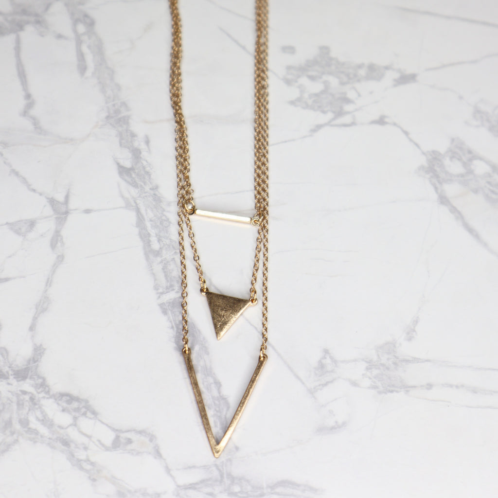 The Adel Necklace - Worn Gold
