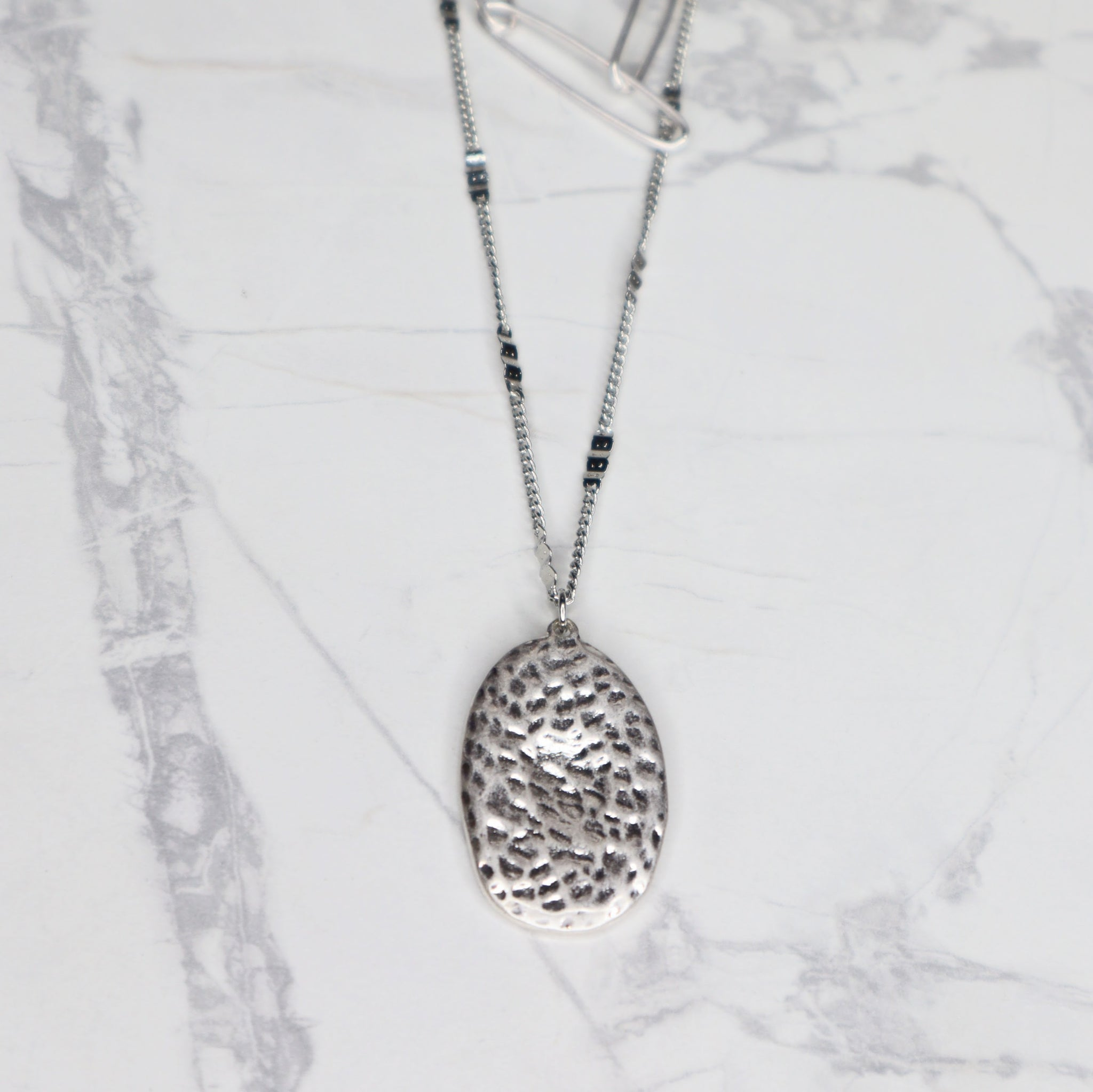 The Anna Necklace - Matte Silver