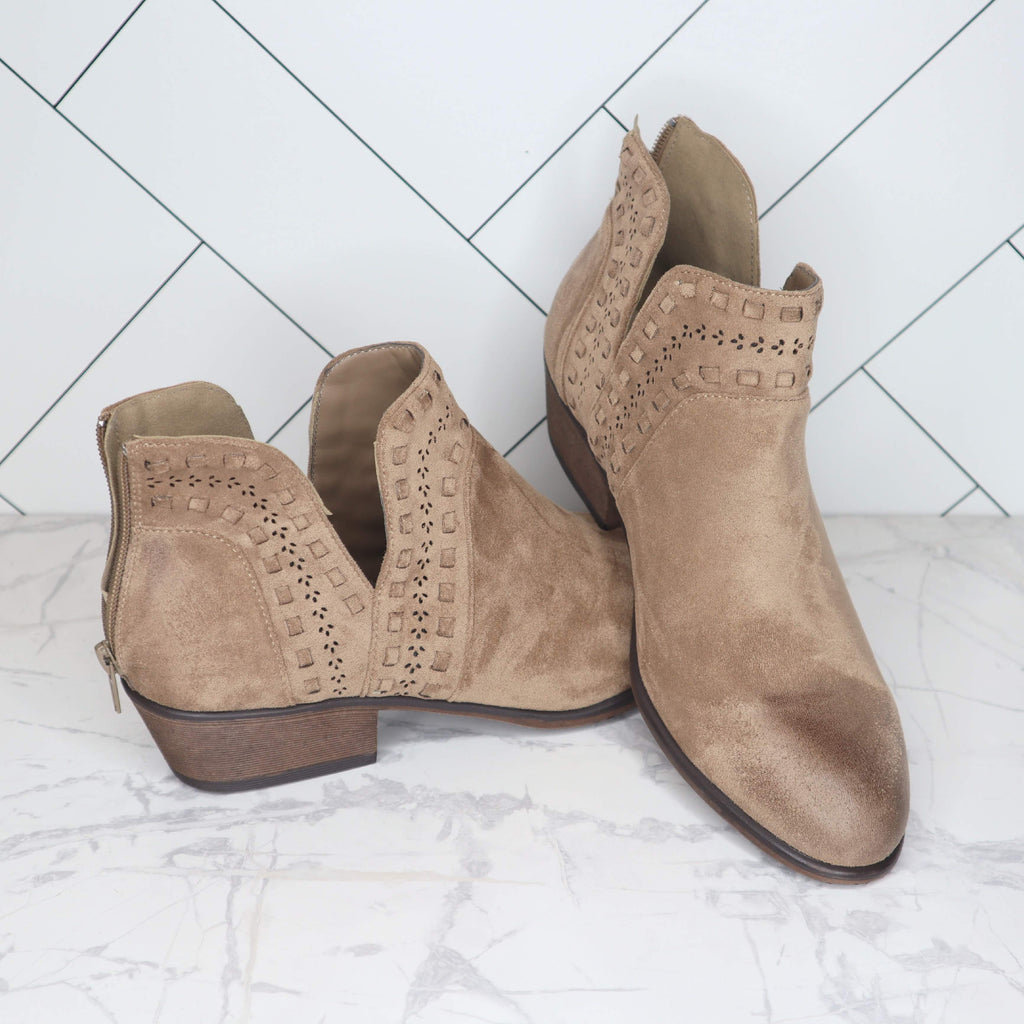 May Taupe Booties