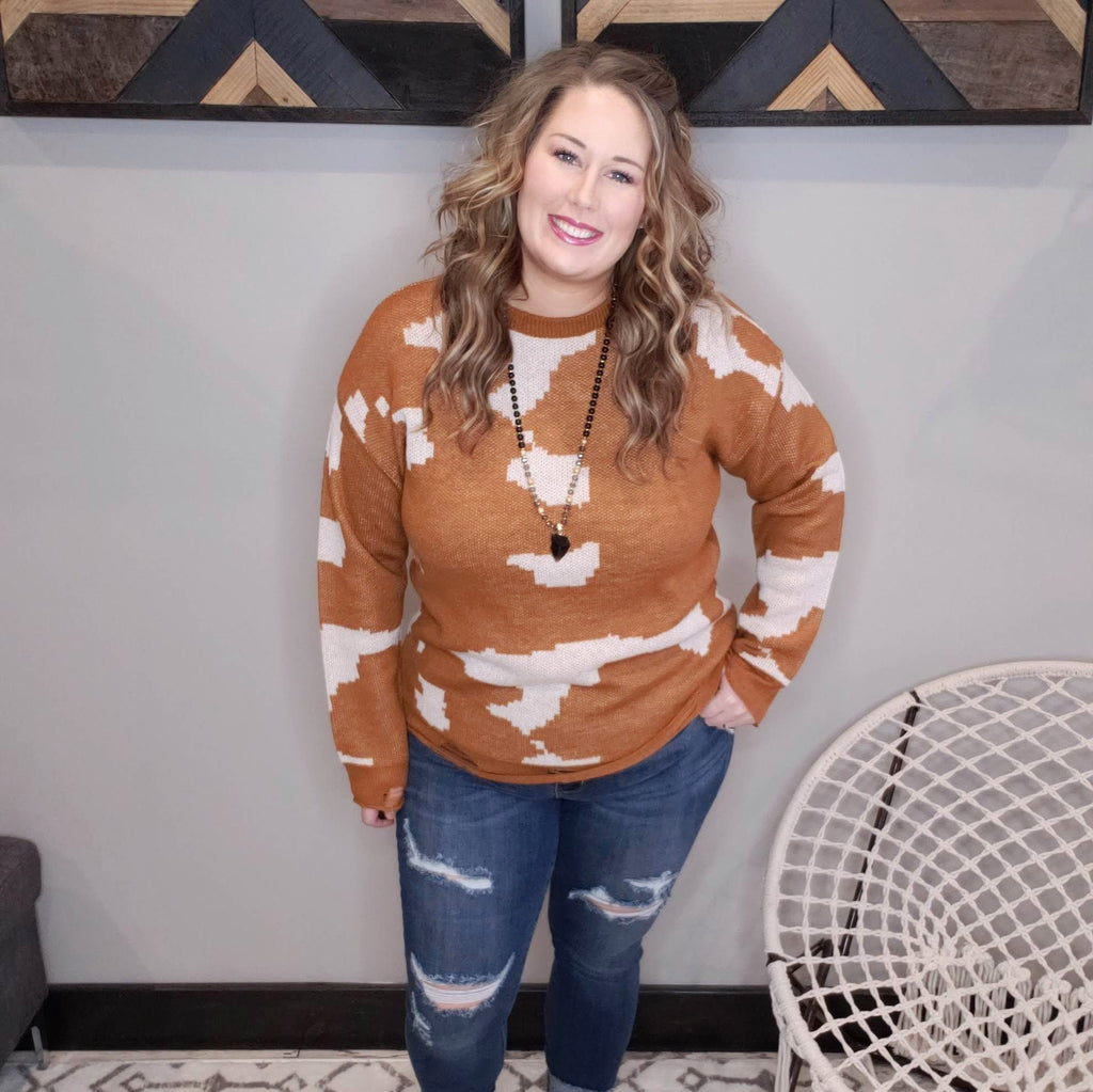 Country Lovin' Distressed Sweater