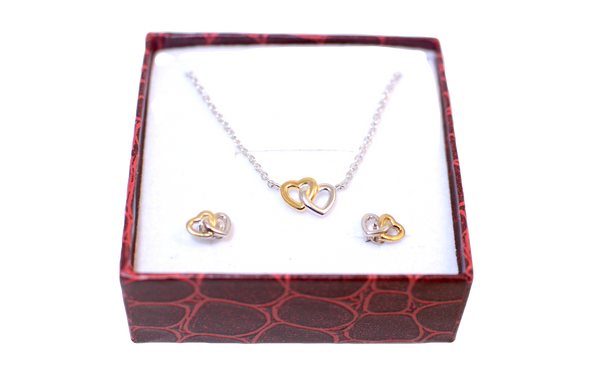 Sweetheart Necklace and Earring Set