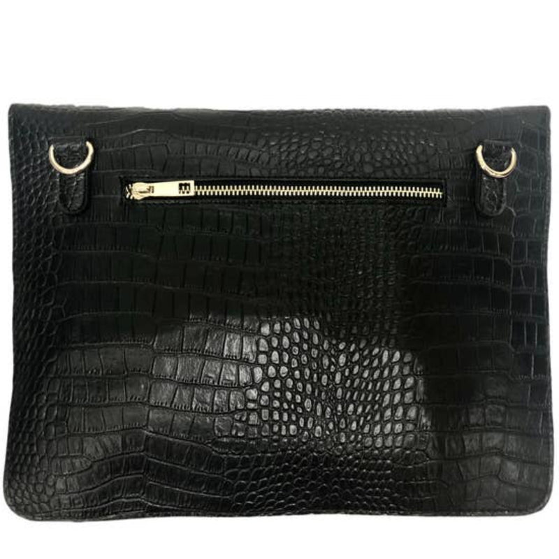 Wild Thing Embossed Leather Envelope Clutch