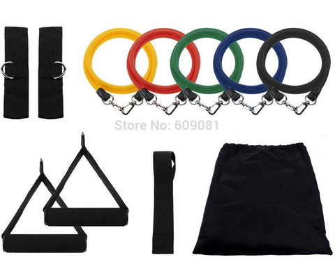 11 piece Resistance exercise bands Set