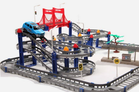 118 pcs Mutli layer Electric Rail Truck Miniature Toys