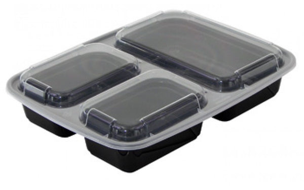 3 compartment Durable Plastic Container