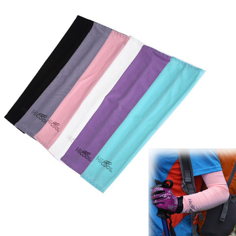 1 pair Sports UV Cooling Arm Cover Sunscreen