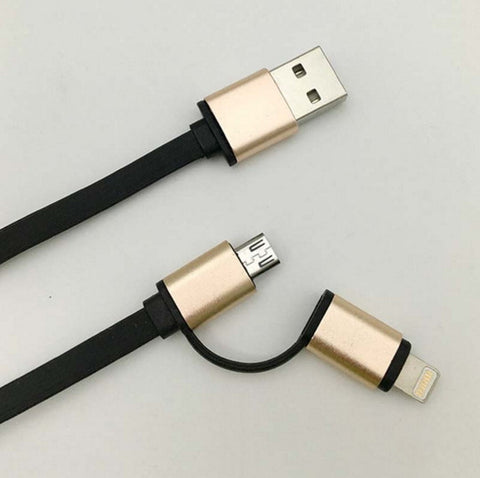 2 in 1 Aluminum Micro-usb Cable