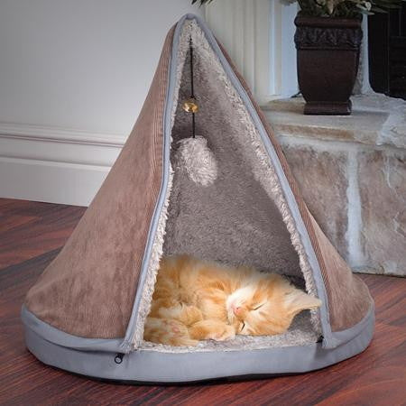 Cat Bed with Removable Teepee Top