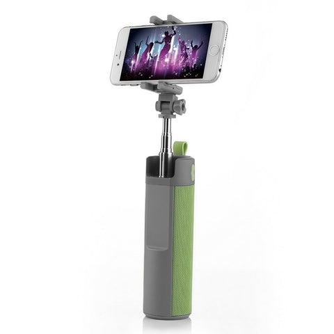 3 in 1 Selfie Stick with Bluetooth Speaker and Powerbank