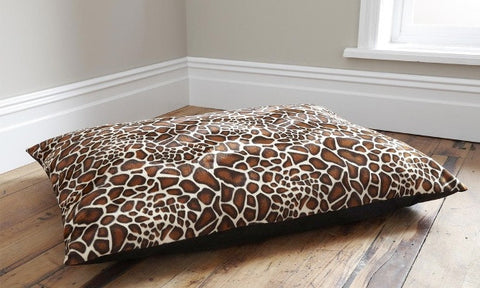 Deep Filled Animal Print Dog Bed