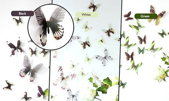 18 pcs 3D Butterfly Wall Decoration Set