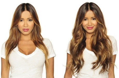7 Piece Set of Clip On Hair Extensions