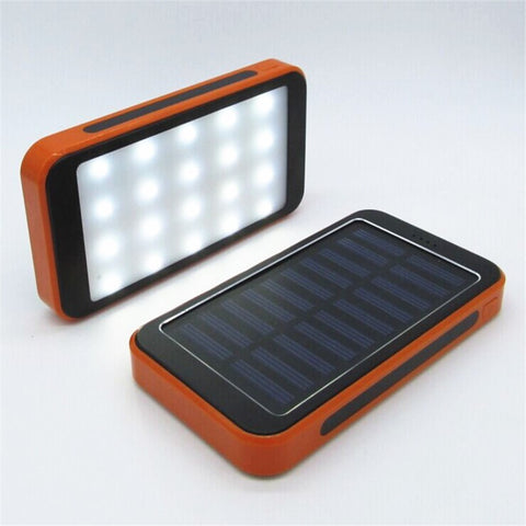 20000mAh Waterproof Solar Power Bank with Camping Lights