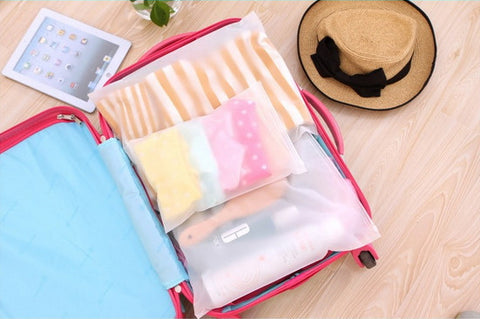 4 pcs Waterproof Luggage Organizer