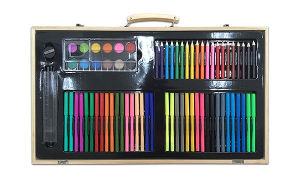 180-Piece Art Kit in a Wooden Box