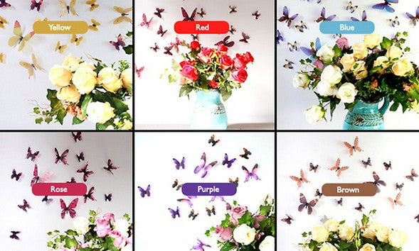 Butterfly Wall Decoration Set