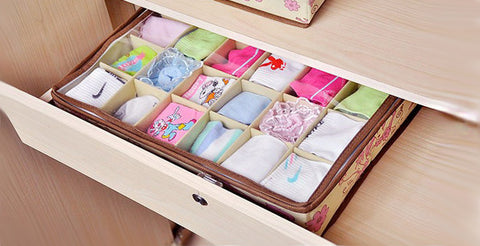 3-Piece Set of Flower Print Storage Box