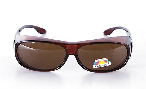 Brown Pair of Polarized Fit Over Sunglasses