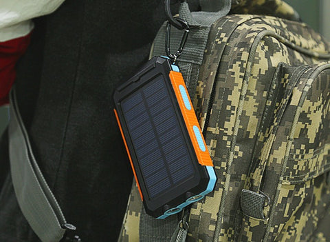 20000Mah Solar Power Bank Charger with 2 LED Lights 2 Ports