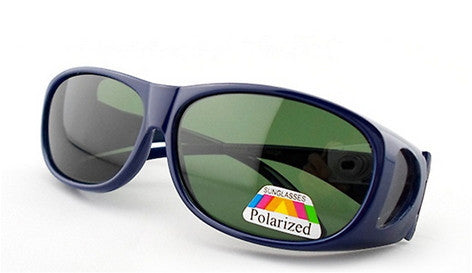 1 Pair of Polarized Fit Over Sunglasses With Green Lenses
