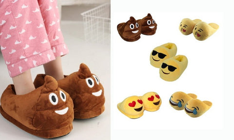 1 Pair Emoji Slippers