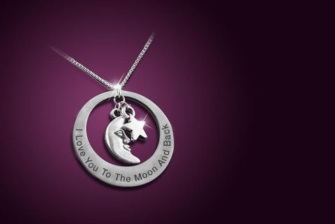 I Love You to the Moon and Back' Necklace