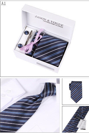 4-in-1 Tie Set. Available in 7 Designs