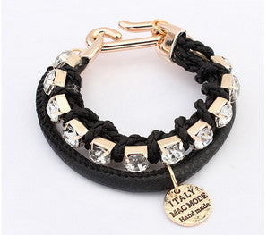 Black Alloy Bracelet for Women