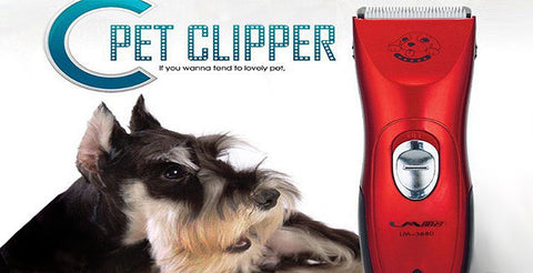 A Cordless Electric Dog Clipper Set