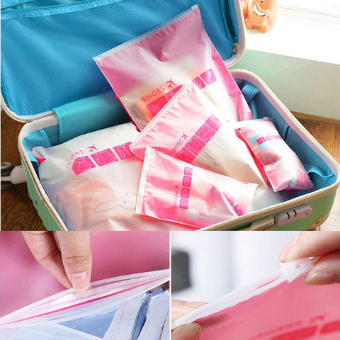 5 Parts / Sets Transparent Waterproof Clothing Storage Bag