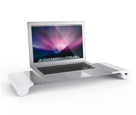 Aluminum Monitor Stand with 4 USB 3.0 Ports