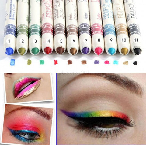 12 Shades Glitter Eye Shadow Pencil
