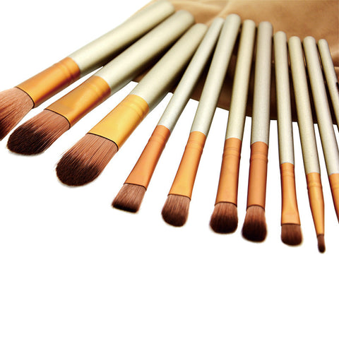 12 Pcs Cosmetic Makeup Brush Kit