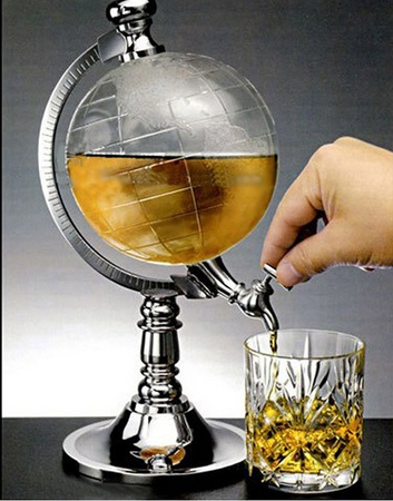 1000cc Globe Shaped Beverage Liquor Dispenser