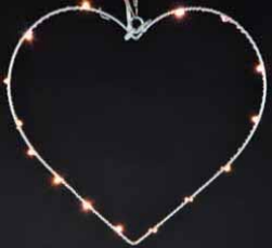 15L Metal Heart With LED Light