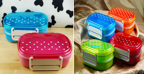 Double layer bento lunch box