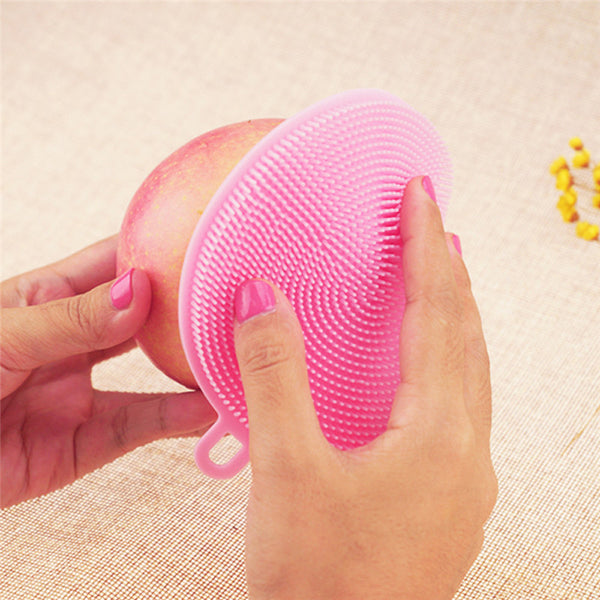 Anti Bacterial silicone cleaning Brush Pad