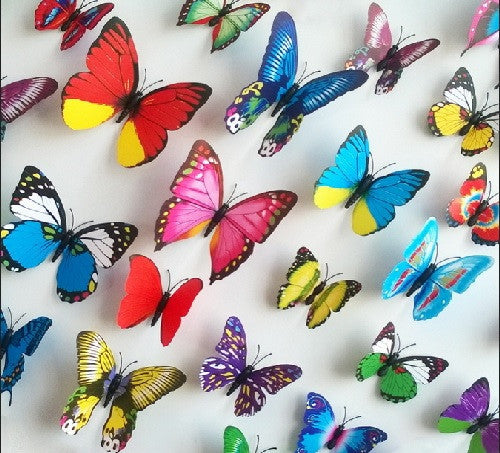 24-Piece 3D Decorative Butterflies