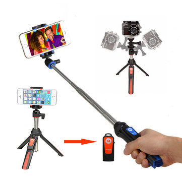 3 in 1 Mini Tripod Bluetooth Remote Control Selfie Stick