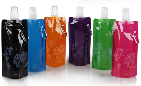 2 Foldable Water Bottles