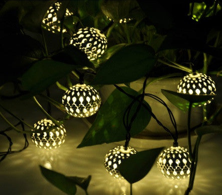 10 Balls Moroccan String LED Fairy Lights